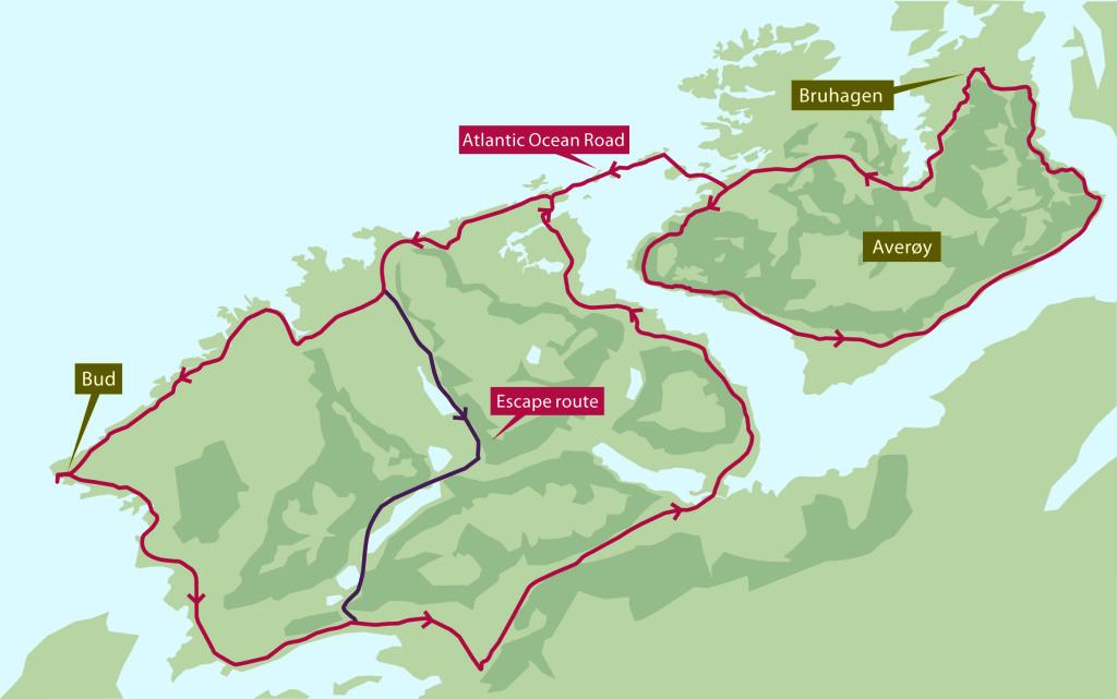 Norway bridge map