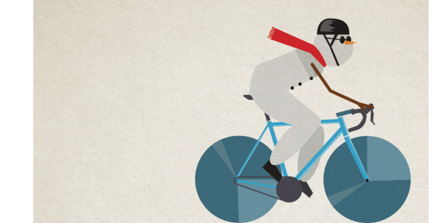 Why do we ride slower in the cold?