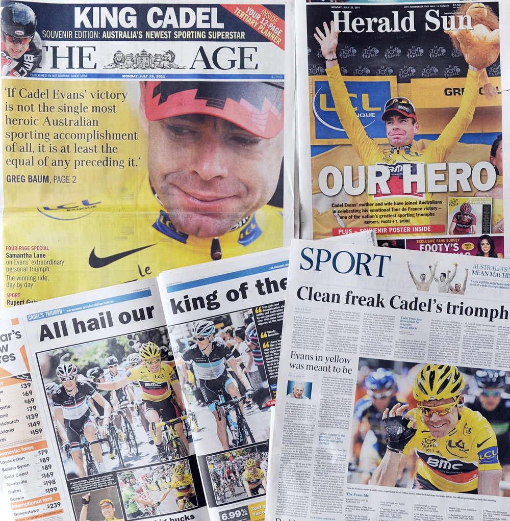 Newspapers coverage in Melbourne on July