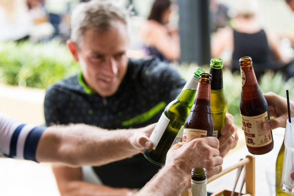 A toast to a great day out on the Velothon Sunshine Coast course.