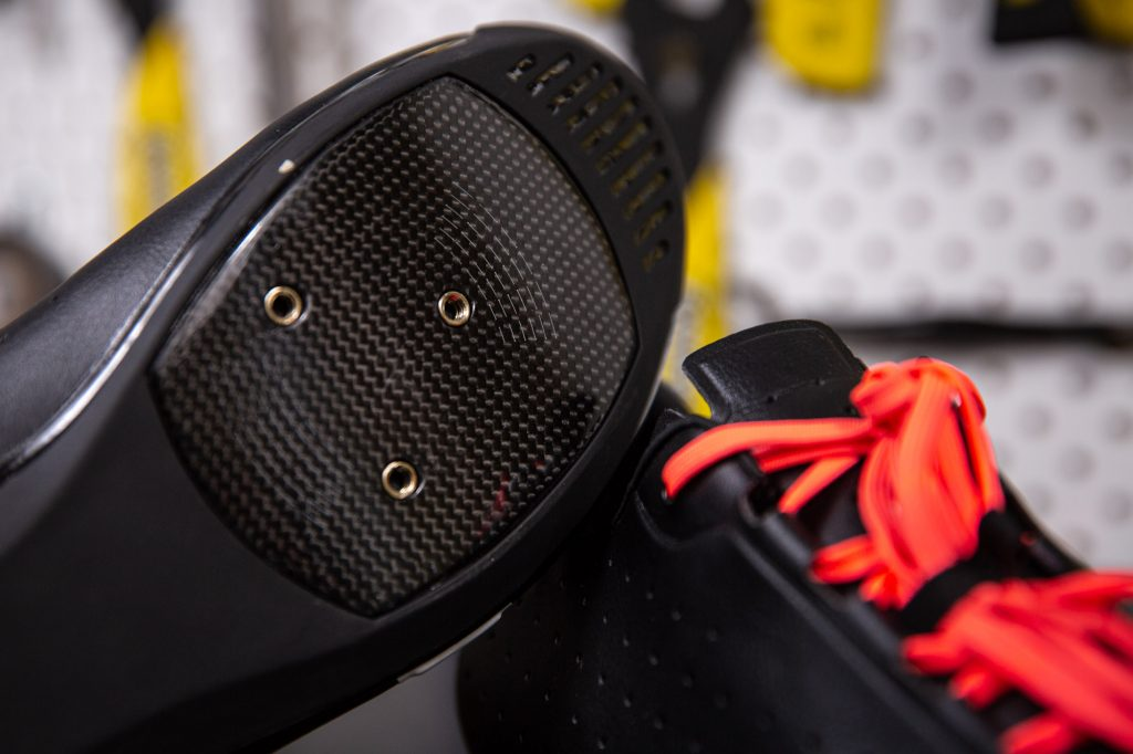 The Rapha Classic Shoe is manufactured by Giro