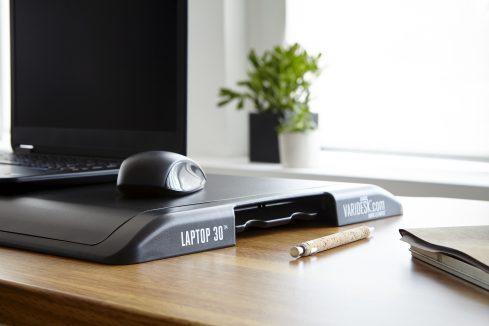 VariDesk Laptop 30 folds to create a near desk height surface