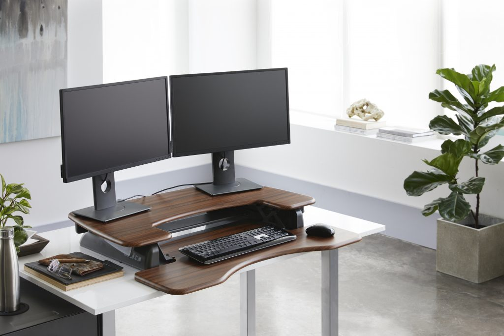 The VariDesk ProPlus 36 turns any desk into a standing desk