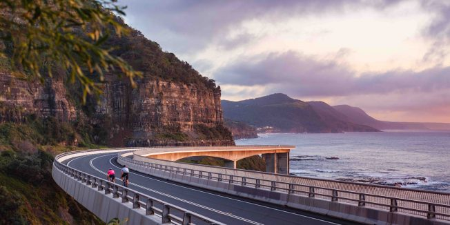 A bridge not far: Cyclist returns to the Sea Cliff Bridge